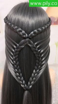 Hairdo For Long Hair, Easy Hairstyles For Long Hair, Pretty Hairstyles, Braided Hairstyles, Hair Ponytail Styles, Front Hair Styles, Medium Hair Styles, Hair Style Vedio, Hair Tutorials For Medium Hair