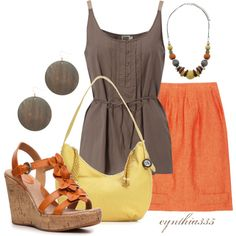 #greydresstank #orangeconverse