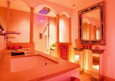 Mehr erfahren zum Badambiente im Stile Andalusiens Spa Design, Corner Bathtub, Bad Honnef, Bathroom, Designer, Rat, Evolution, Concrete Bathtub, Vanity Basin