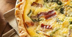 This Bacon and Spinach Quiche Is One Of Our Personal Favorite! So Simple To Whip Up And Pop In The Oven!