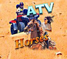 Atv & horses back riding
