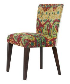 Take a look at this Red Paisley Vintage Chair by ACG Green Group on #zulily today!
