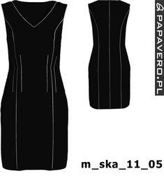 Gotowy wykrój - sukienka z rękawkami do wyboru