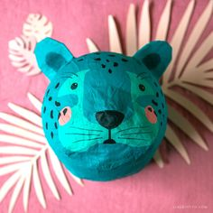 Paper Mache Crafts For Kids, Paper Plate Crafts, Craft Projects For Kids, Diy For Kids, Paper Plates, Kids Crafts, Art Projects, Paper Mache Animals, Paper Mache Animal Heads