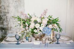 Pastel floral centerpiece   Liliya Bondarenko