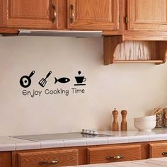 New Design Creative DIY Wall Stickers Kitchen Decal Home Decor Restaurant Decoration Wallpaper Wall Art Wall Stickers Uk, 3d Wall Decals, Kitchen Wall Decals, Kitchen Wall Stickers, Sticker Vinyl, Window Stickers, Vinyl Art, Wall Painting Decor, Diy Wall Decor
