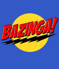 Camiseta The Big Bang Theory. Bazinga rojo