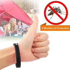 Aircop Brand Silicone Pest Repellent Bracelets Non Toxic 2 Months of Protection Black ** Please continue read.