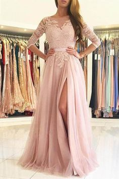 Evening Dresses Long, Pink Evening Dresses, Prom Dresses A-Line, Prom Dresses 2018 Prom Dresses Long Prom Dresses Long Pink, Open Back Prom Dresses, Prom Dresses Long With Sleeves, A Line Prom Dresses, Tulle Prom Dress, Lace Evening Dresses, Lace Bridesmaid Dresses, Cheap Prom Dresses, Prom Party Dresses