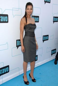 Padma Lakshmi Strapless Dress - Strapless Dress Lookbook - StyleBistro