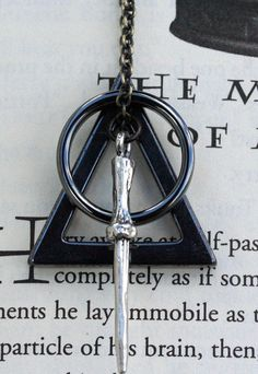 Harry Potter Deathly Hallows Symbol Necklace by LeslieShields