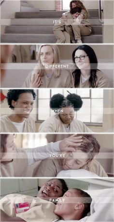 It's different when you're family #oitnb