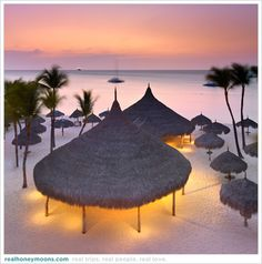 Sunset, Aruba. Maybe in a couple of years.