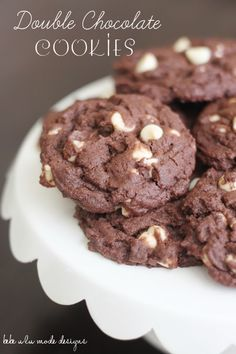 Double Chocolate Cookies, oh yum!