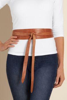 Leather Obi Belt - Belts, Fashion Accessories   Soft Surroundings