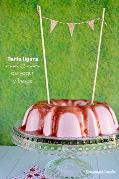Tarta ligera de yogur y fresas: perfecta para la operación bikini!