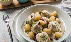 Boulettes suédoises et pommes de terre grelots