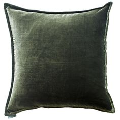 Luxurious Silk Velvet & Linen Cushion – Pewter from de Le Cuona. #velvet #design #fabric #interiordesign #pillow