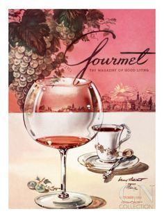 Gourmet Cover - October 1953 Poster Print by Henry Stahlhut at the Condé Nast Collection