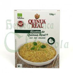 Quinua Real, Risotto Ecológico, una mezcla de quinoa y hortalizas de agricultura ecológica ya preparada para hervir en 12 minutos y lista. Sin Gluten.
