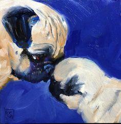 A beautiful painting of Pug love... #pugfanatic