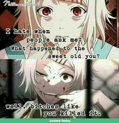 Which Anime Quote Describes you?Take this quiz to find Which Anime Quote Describes you. Sad Anime Quotes, Manga Quotes, Depressing Quotes, Anime Amor, Manga Anime, Anime Guys, Juuzou Tokyo Ghoul, Juuzou Suzuya, Tokyo Ghoul Quotes