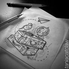 travel iblackwork sketching ink - iblackwork sketching travel - new 823666219334747456 Tattoo Sketches, Tattoo Drawings, Drawing Sketches, Drawing Ideas, Sketch Ideas, Doodle Drawings, Doodle Art, Pencil Art, Pencil Drawings