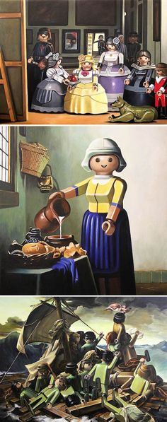 Classical Paintings with Playmobil by Pierre-Adrien Sollier