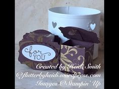 Ferrero Rocher Deco label Box using Stampin Up products - YouTube