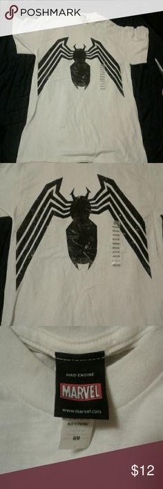 Venom shirt Young men's Marvel venom shirt small grey mark on shirt in pic 5 from storage. Marvel Shirts Tees - Short Sleeve