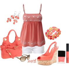 Coral, created by michelled2711 on Polyvore