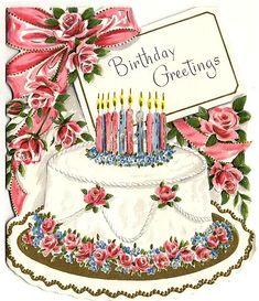 Happy Birthday Quotes, Happy Birthday Images, Happy Birthday Greetings, Birthday Pictures, Vintage Birthday Cakes, Birthday Cake Card, Happpy Birthday, It's Your Birthday, Birthday Ideas