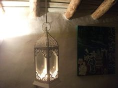 s.a.l.e-HANDPAINTED MOROCCAN LANTERN, 33 cm high, for indoor , outdoor, alfresco dining