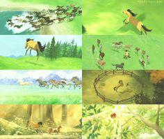 Spirit: Stallion of the Cimarron (Dreamworks Spirit Horse Movie, Spirit The Horse, Spirit And Rain, Dreamworks Movies, Dreamworks Animation, Disney And Dreamworks, Disney Animation, Storyboard, Pixar