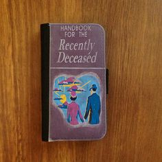 Beetlejuice Handbook for the Recently Deceased phone case (via cudagecase on etsy)