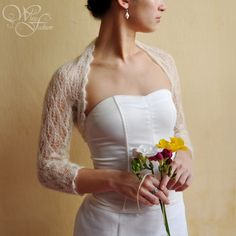 knit bridal shrug