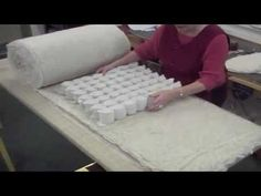 Putting together the inside of a couch cushion How to make your own interior sprung cushion | Part 2 of 2