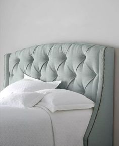There's something so inviting about an upholstered headboard — and particularly a tufted headboard, which combines the coziness of an upholstered headboard with a touch of old-world glamour. If you'd like to add a bit of luxury to your bedroom, check out this roundup of 11 beautiful headboards for any budget: Rami Wing Tufted Headboard at Horchow