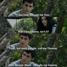 I loved this part in the book where Thomas is a big dork again and Teresa smiled.
