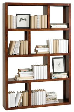 Great multi-purpose piece. Store and display. Against a wall or as a room divider. The choice is yours!