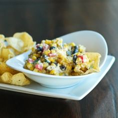 Southwest Corn Dip. A little creamy, a little spicy, a little cheesy...a LOT delicious!