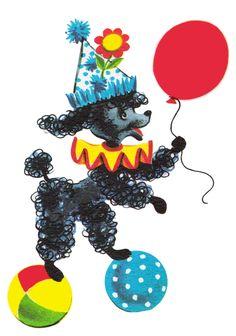 ♥Freebie Image: Vintage Poodle ♥ - Free Pretty Things For You Vintage Dog, Vintage Circus, Vintage Children, Vintage Images, Vintage Clip, Clipart Vintage, Retro Images, Vintage Party, Vintage Ephemera