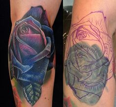 Purple Rose Cover Up tattoo