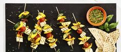 Pepper, Courgette, Halloumi and Tomato Kebabs (cooked on BBQ) - a vegetarian barbecue recipe