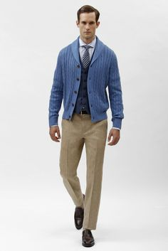 Great look for a teacher! 2014 Fashion Trends, Fashion News, Mens Fashion, Runway Fashion, Fashion Spring, Casual Winter Outfits, Cool Outfits, Blazers, Brooks Brothers Men