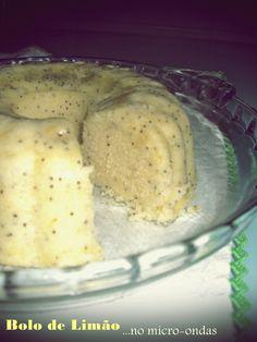 Bolo de Limão e Sementes de Papoila - Microondas   Lemon Cake with Poppy seeds - Microwave