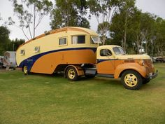 """Custom built 1949 """"Highway Palace"""" Australia's most awesome vintage 5th Wheeler - From Vintage Caravan Magazine"""