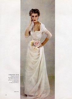 Christian Dior 1952 Photo Jesper Hoem, Evening Gown