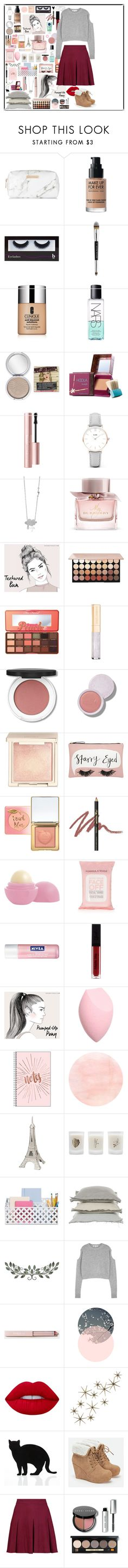 """""""Untitled #114"""" by rain-byrne ❤ liked on Polyvore featuring Spectrum, MAKE UP FOR EVER, BBrowBar, Stila, Clinique, NARS Cosmetics, TheBalm, Benefit, Too Faced Cosmetics and CLUSE"""