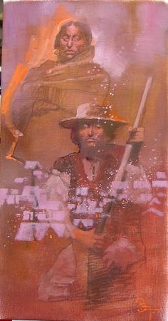 Bernie Fuchs, Soldier and Musket oil on linen